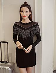 Signer la robe d'épissure du fil de tassel net