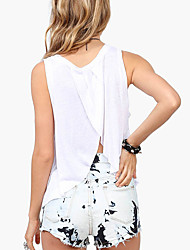 AliExpress lucky hand stacking pattern printing loose round neck halter vest cotton good quality