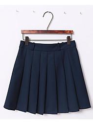 Vrais rouwanbaby positif et négatif demi-longueur jupe plissée grande différence en majuscule sauvage / 3 couleurs