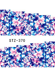 10pcs/set Clear Style Summer Hot Beautiful Flower Nail Water Transfer Decals Fashion Flower Design Decals Nail DIY Beauty STZ-370