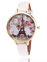 Fashion Women Flower Watch Eiffel Tower Watch Garden Beauty Quartz Watch Gift Relogio Feminino