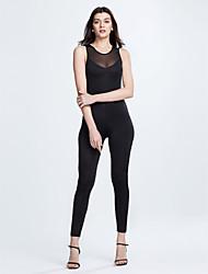 Combinaisons Aux femmes Sans Manches Actif Polyester Fin Micro-élastique