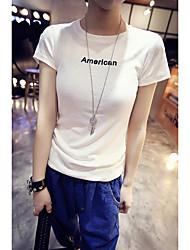 Verão letras novas impressas de manga curta t-shirt slim mulheres compassivo bottoming camisa de verão de manga curta t-shirt mulheres