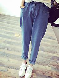 Новый сезон мешковатые джинсы упругие талии колготки женщины BF студент был тонкий ноги гарем брюки