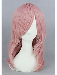 Short Curly Pink Synthetic 16inch Anime Cosplay Wigs CS-265A