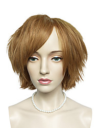 Top Quality Short Curly Synthetic Wig Brown Cosplay Wig