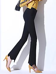 2017 primavera alta cintura leggings pantyhose criança feminino micro-bell-bottoms bell-bottoms calças jeans stretch