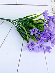 1 Ast Polyester Kunststoff Orchideen Tisch-Blumen Künstliche Blumen 33