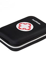 Travel Medicine Box/Case Compression for Travel StorageBlack Orange Red