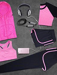 Femme Course / Running Respirable Vestimentaire Eté Yoga Exercice & Fitness Tencel Tissu de soie MinceIntérieur Vêtements de Plein Air