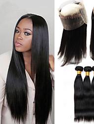 One Pack Solution Cheveux Péruviens Droit 12 mois 4 Pièces tissages de cheveux