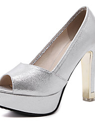 Women's Sandals Spring Summer Club Shoes Leatherette Party & Evening Dress Casual Chunky Heel Sequin Crystal Heel