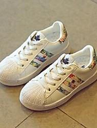 Fille Chaussures d'Athlétisme Confort Polyuréthane Décontracté Confort Talon Plat Or Argent Écran couleur Plat
