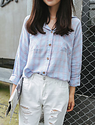 Really making Korea the new spring lapel plaid jacket BF students loose, casual shirt