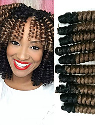 Bouncy Curl Synthetic ombre braiding hair braids free hook gift kanakalon crochet braids bouncy curly saniya curls 20roots/pack 5packsmakehead