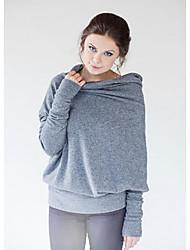 AliExpress Amazon Europe autumn ladies bat sleeve high collar buttoned T-shirt to wear on both sides bat shirt