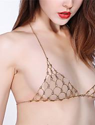 Women's Body Jewelry Body Chain Handmade Fashion Vintage Rhinestone Alloy Geometric Jewelry For Party Special Occasion Halloween Casual