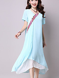 Sign large size women's national wind long section of chiffon dress cheongsam dress China style dress