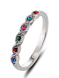 Ring Band Rings Unique Design Euramerican Fashion Personalized Simple Style British Rhinestone Zinc Alloy Round Jewelry For Women Birthday Gift