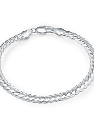 Elegant Silver Plated 5mm Wide Snake Chain & Link Bracelets for Wedding Party Women Christmas Gifts