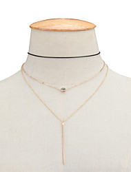 Women's Pendant Necklaces Rhinestone Jewelry Copper RhinestoneDangling Style Pendant Tassel Tassels Euramerican Fashion Personalized