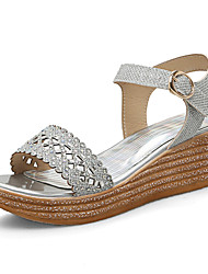 Women's Sandals Spring Summer Club Shoes Creepers Glitter Party & Evening Dress Casual Wedge Heel Platform CreepersRhinestone Sequin