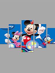 HD Print Disney Park Painting 5 Piece/set Children Room Wall Art 5pcs/set Animal Cartoon (No Frame)
