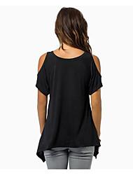 Damen Solide Sexy Übergröße T-shirt,V-Ausschnitt Frühling Ärmellos Kunstseide Lichtdurchlässig