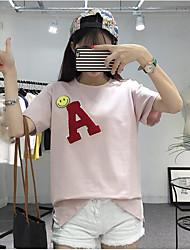 2017 sinal mais mulheres verão coreano solta grandes estaleiros de banda desenhada impressa selvagem t-shirt femininos uma palavra