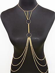 Women's Body Jewelry Body Chain Fashion Necklace Belly Chain Bohemian Vintage Tassels Charm Alloy Casual Party Daily Occasion Beach Bikini Jewelry