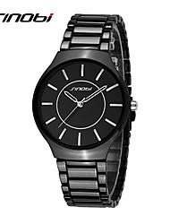 Dress Watch Fashion Watch Quartz Water Resistant / Water Proof Shock Resistant Alloy Band Charm Black Brand SINOBI