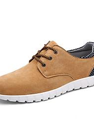 Da uomo-Sneakers-Tempo libero Casual Sportivo-Comoda Suole leggere-Piatto-Scamosciato-Blu marino Grigio chiaro Marrone chiaro