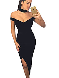 Women's Luxurious Long Party Dress with Choker