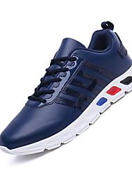 Masculino-Tênis-Conforto-Rasteiro-Branco Preto Vermelho Azul-Couro-Para Esporte