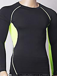 Homme Hauts/Tops Exercice & Fitness Respirable Printemps Eté Noir-Outto®-S M L XL XXL XXXL