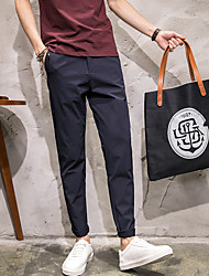 2017 spring and summer cattle zone Amoy Japanese third Sugan feet Slim casual trousers