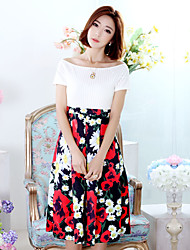 Summer new women's long red skirt sleeveless chiffon dress bohemian beach dress seaside resort Dress