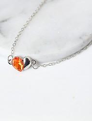 Charm Bracelet Alloy Rhinestone Heart Fashion Women's Jewelry 1pc