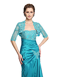 Women's Wrap Shrugs Lace Wedding Appliques Beading
