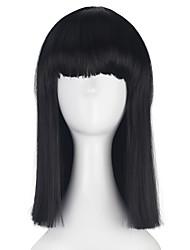 Синтетические средние длинные прямые волосы боба для женщин девушка многоцветная косплей костюм участник парик Хэллоуин