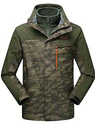 LEIBINDI®Men's Winter Jacket 3-in-1 Jackets Skiing Camping Outdoor Sport Hiking Snowsports Waterproof Windproof Thermal / Warm Windproof