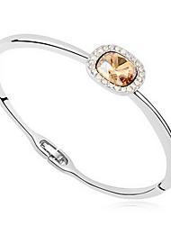 Mulheres Bracelete Jóias Amizade Moda Cristal Liga Forma Geométrica Dourado Vermelho Azul Jóias Para Festa Aniversário 1peça