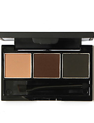 1Pcs Enhancer Professional Eye Brow Makeup 3 Color Waterproof Eyebrow Powder Eye Shadow Eyebrow Make Up Palette Set Kit