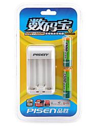 Pisen aa níquel metal hidreto bateria recarregável 1.2v 1300mah 2 pack