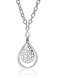 Women's Fashion Waterdrop and Filigree Drop Pendant Necklace