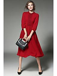 signe place - début du printemps nouvelle robe en mousseline de soie stations européennes dentelle couture grande jupe