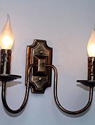 Retro Simple Wall Lamp Corridor Hallway Double Head Lamp Bedroom Living Room Wall Lamp Lighting
