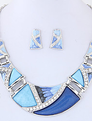 Women's Jewelry Set Costume Jewelry Fashion Euramerican Alloy Geometric 1 Necklace 1 Pair of Earrings For Party Daily Wedding Gifts