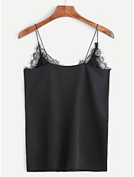 AliExpress Amazon ebay hot explosion models stitching lace chiffon camisole