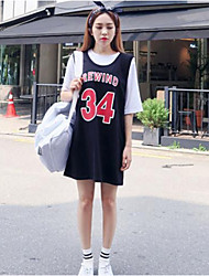 2016 Korean students new college wind sleeveless shirts and even digital uniforms woman